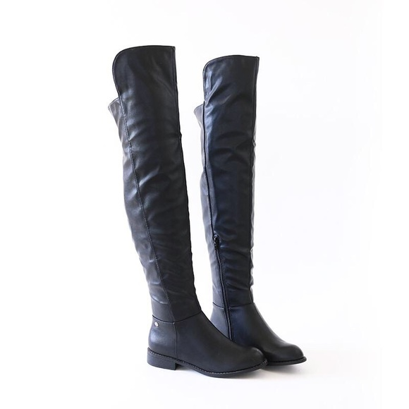 b083aaf8f8b oksana -313 black over knee high rider boots